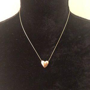 ❤️ VINTAGE MONET Gold Heart Necklace ❤️